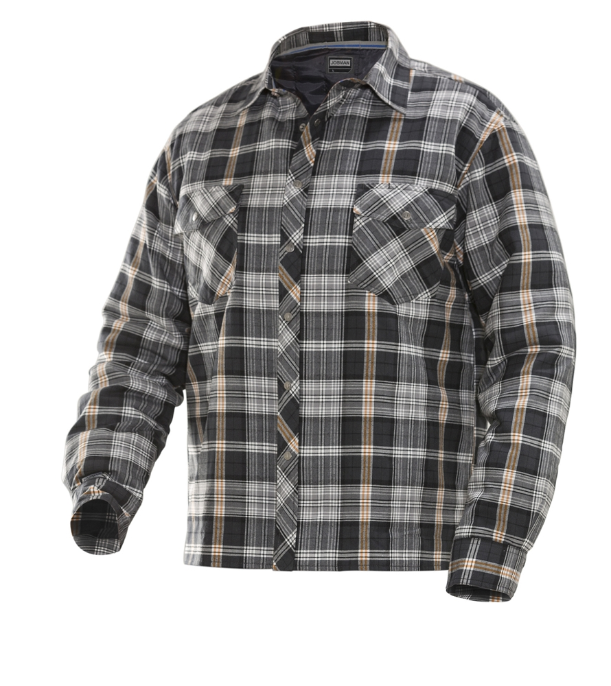 JOBMAN Quilt-lined Flannel Shirt-5157 : quilted flannel shirt jacket - Adamdwight.com