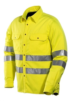 JOBMAN High Visibility Quilted Shirt -5156HV
