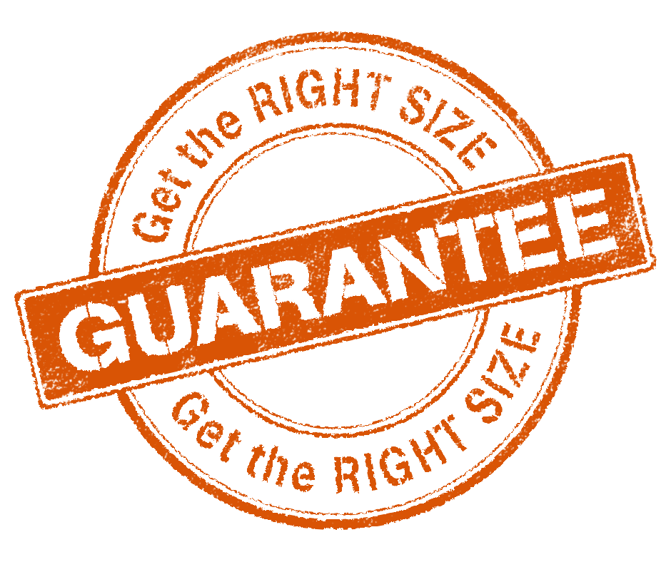 Right-size guarantee