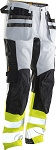 JOBMAN Craftsman Work Pants with Core Stretch Hi-Vis - 2134