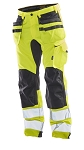 JOBMAN Hi Vis Craftsman Stretch Workpants- 2240