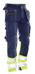 JOBMAN Cotton Craftsman Work Pants with Hi-Vis - 2297